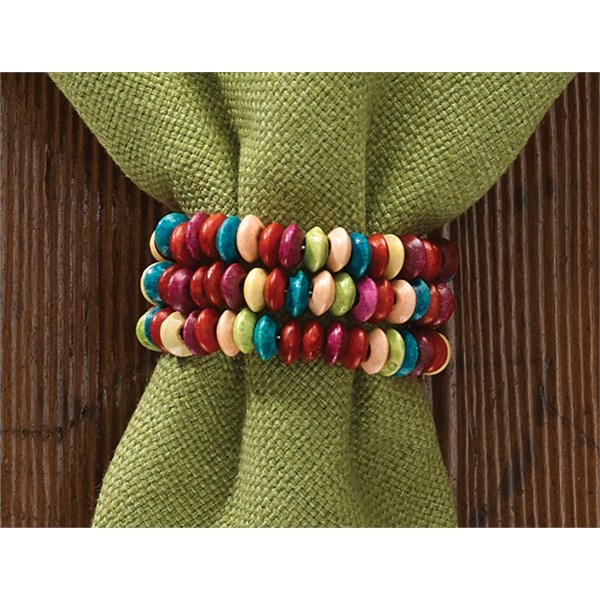 Candy Colored Beaded Napkin Ring