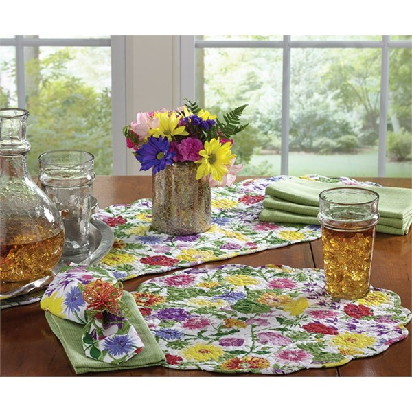 Enchanted Flowers Table Runner