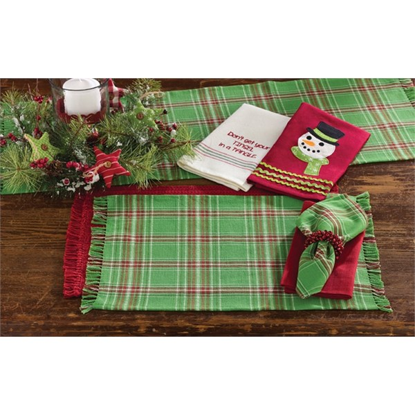 Merry & Bright Plaid Placemats