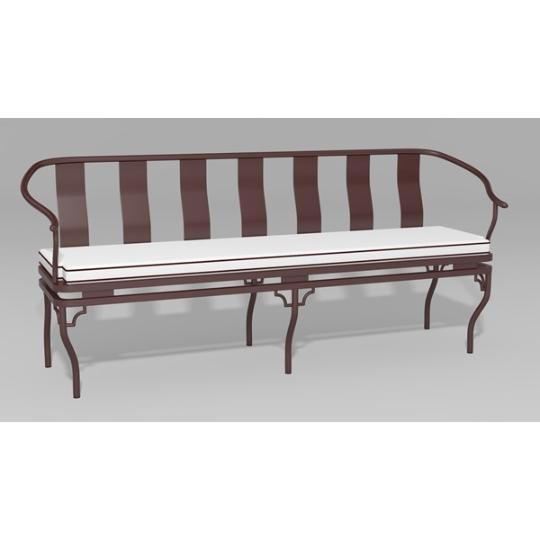 Ming Garden Bench - Front View - cushion not included