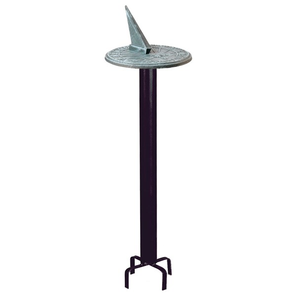 Wrought Iron Column Pedestal with Sundial