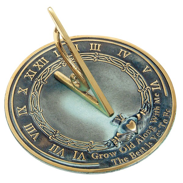 Solid Brass Grow Old with Me Sundial