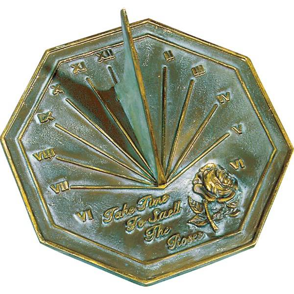 Solid Brass Roses Sundial
