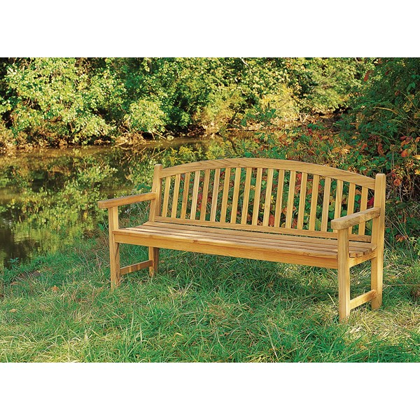 6' Wide Monet Teak Garden Bench