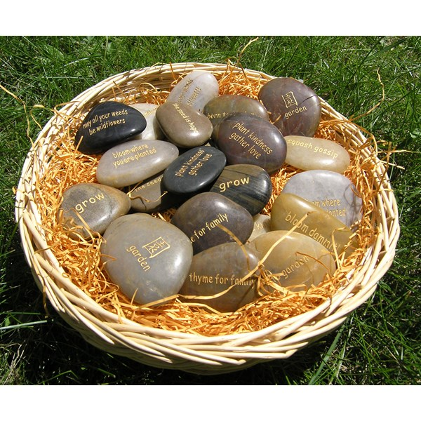 Basket of 120 Garden Word Stones