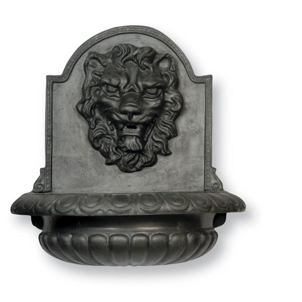 Great Lion fiberglass fountain - Faux Lead