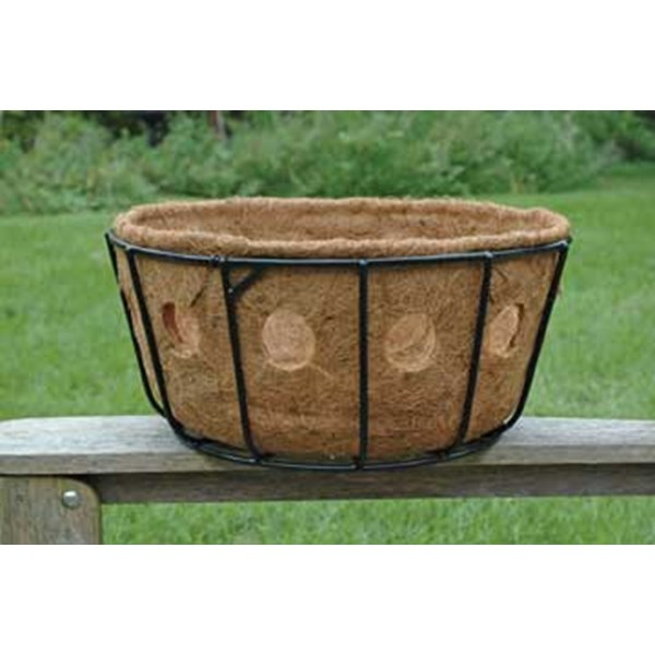 "ZGBS14 Pamela Crawford 14"" Single Row Side Planting Hanging Basket"
