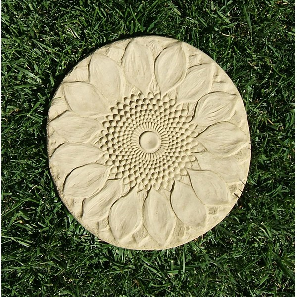 Sunflower Stepping Stone - Old Stone