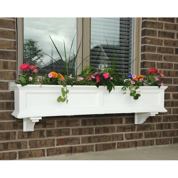 Fairfield 5' Window Box with Subirrigation - White