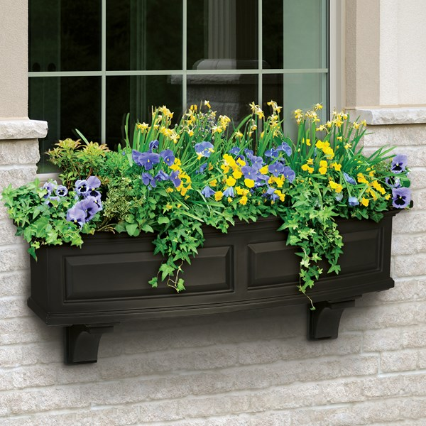 Nantucket 4' Window Box - Black