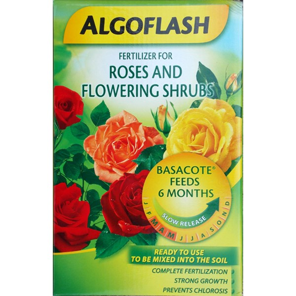 AlgoFlash Roses and Flowering Shrubs Basacote Slow Release Fertilizer