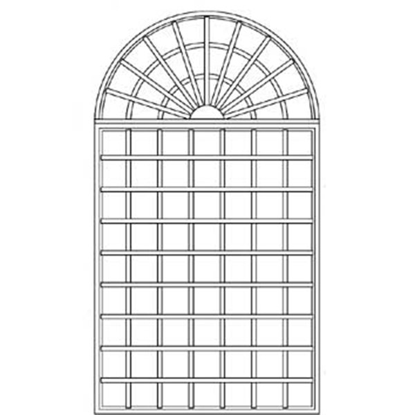 R9/4-5 Arched Wall Trellis - 2 pieces