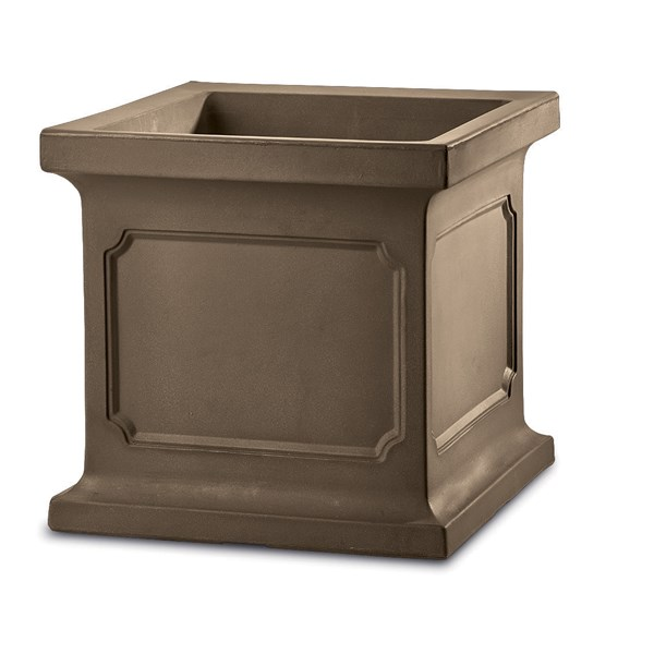 Estate Square - large lightweight planter - Mocha