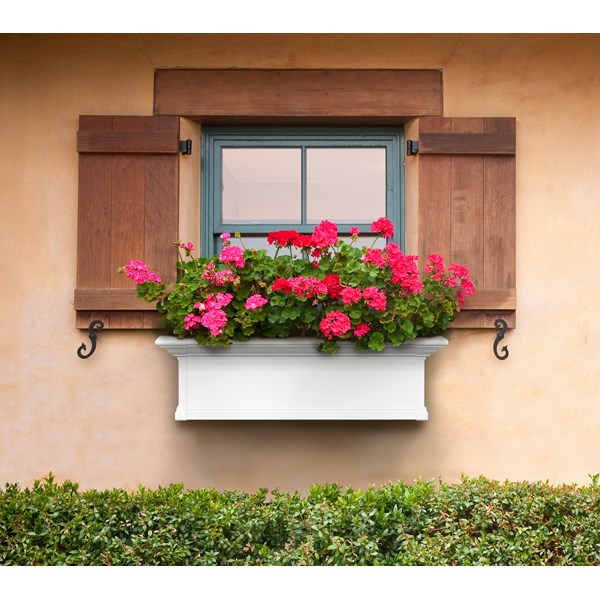 Yorkshire 3' Window Box - White