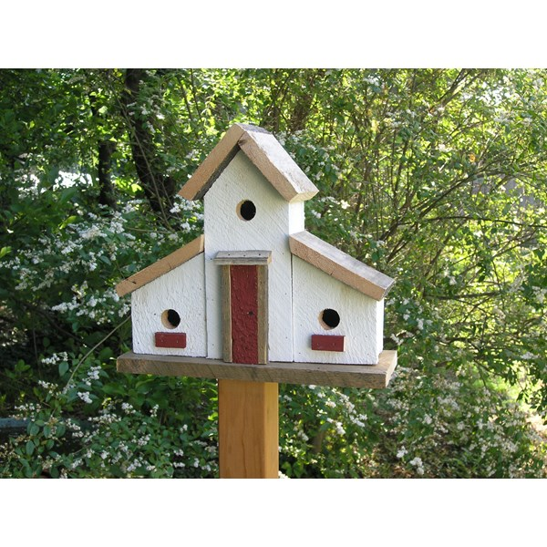Gristmill Birdhouse - White