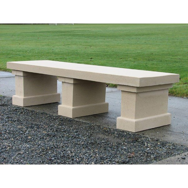 Hastings - Cast Stone Bench - Creme