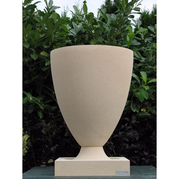 FLW American Systems Built House Vase in Tan