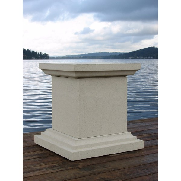 Queen Anne Pedestal - Tan