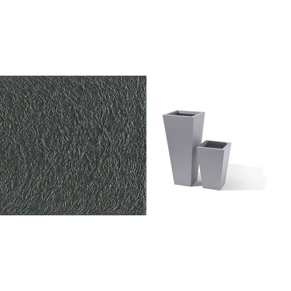 Taper - tall tapered square metal planter - Charcoal Grey