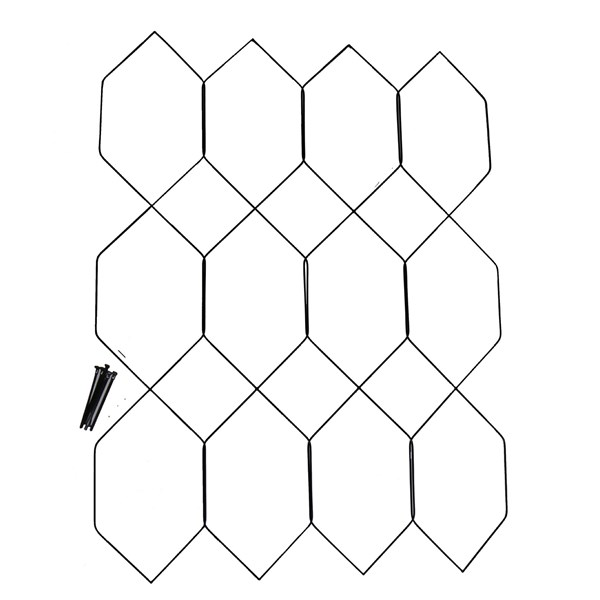 wire lattice infill - 3 x 4 cells  2 u0026quot  high pvc coated