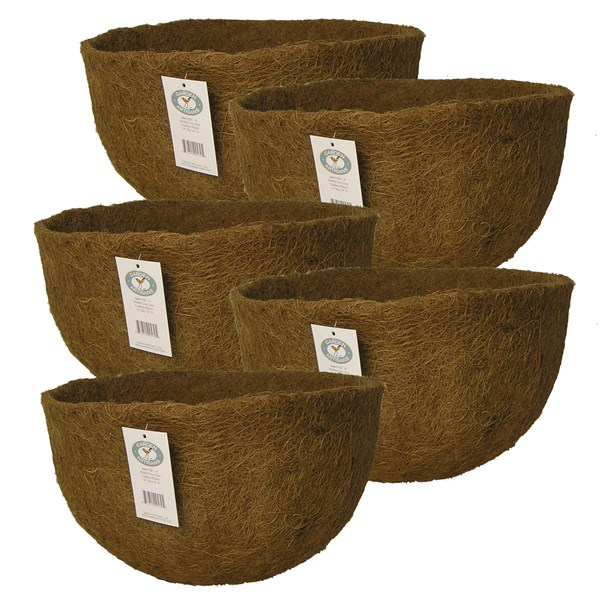 "Pack of 4 Molded Coco Liners for 14"" x 9"" Baskets"