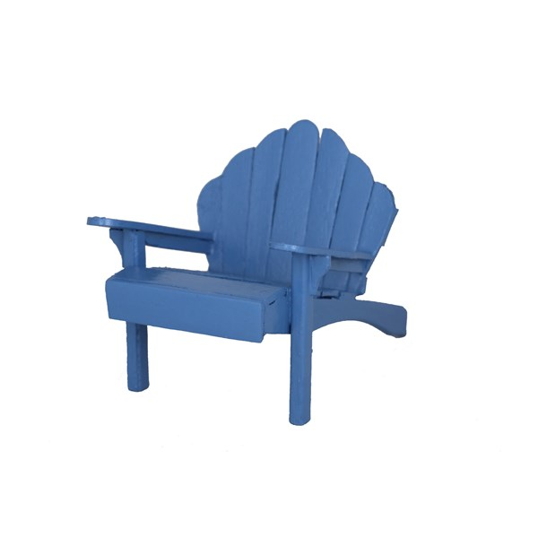 Mini Blue Adirondack Chair