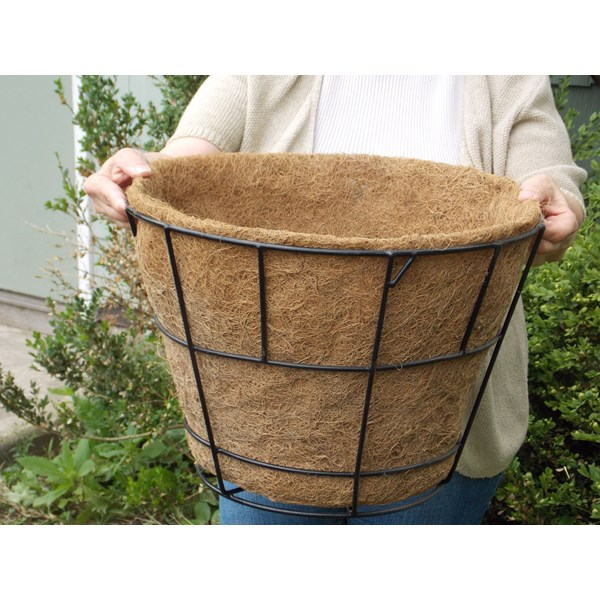 "Molded Coco Liner for 16"" x 11"" Flat Bottom Basket"