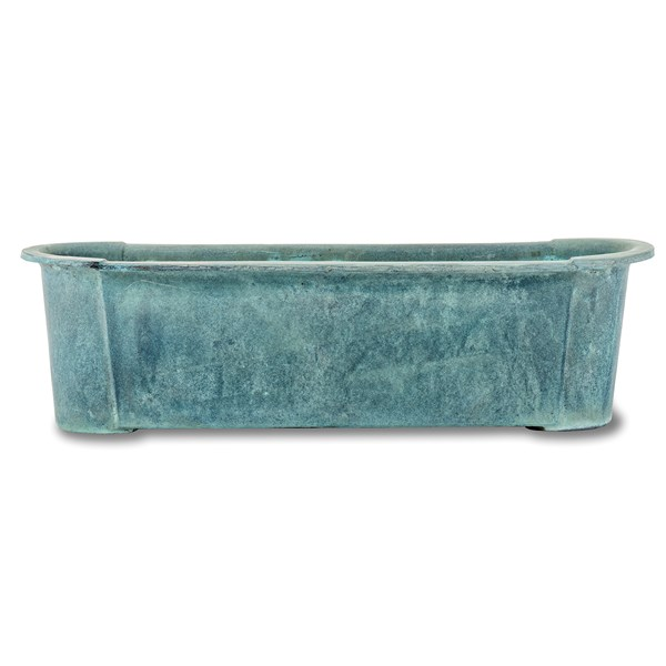 Provencal Trough fiberglass planter - Beaten Copper