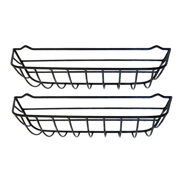 "30"" Window Hayrack - steel with black plastic coating - 2pk"