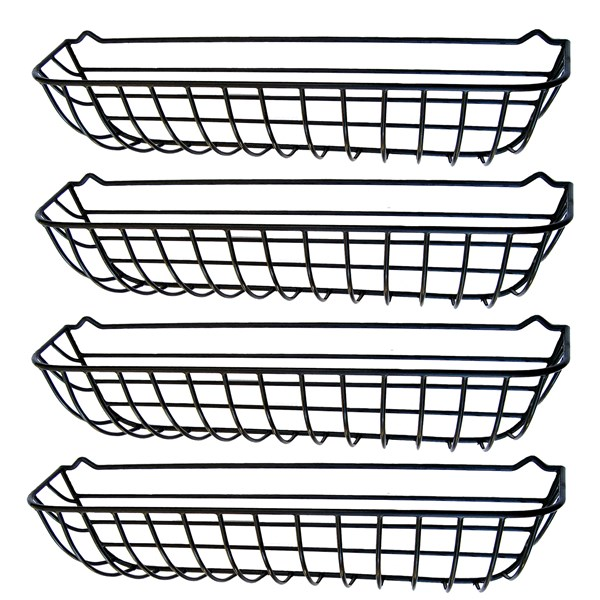 "44"" Window Hayrack - steel with black plastic coating - 4pk"