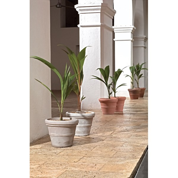 Brunello - lightweight rolled rim resin planters