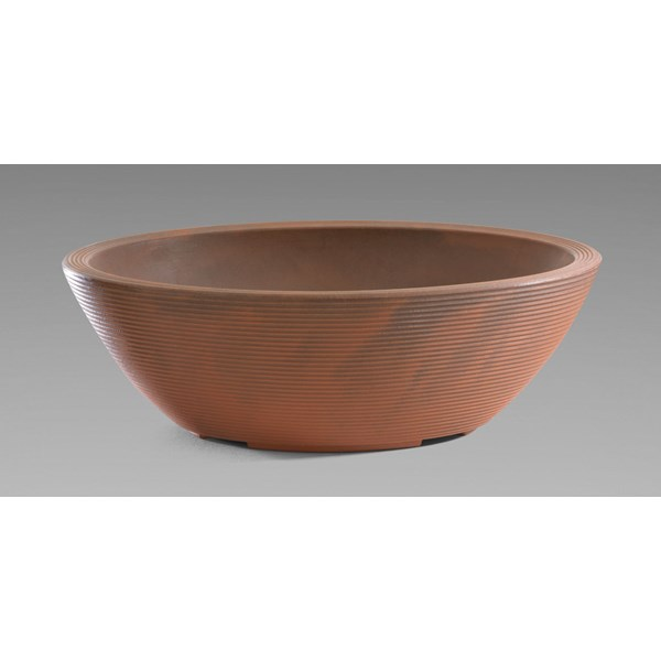 Delano Oval - lightweight resin planter - Rust