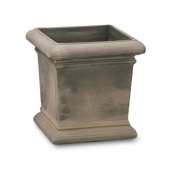 Dorchester - lightweight square planter - Weathered Grey Stone