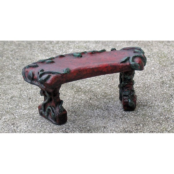 Miniature Red Vine Bench - hydrostone