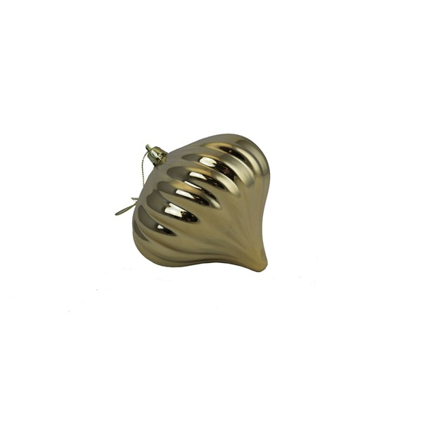 Shatterproof Gold Onion Ornament