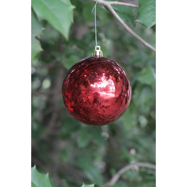 "Red ""Mercury"" Ball Shatterproof Ornament"