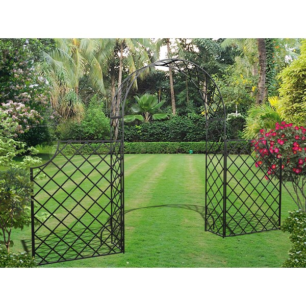 Bagatelle Garden Arch with High Fence