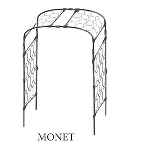 Steel Garden Arch - Monet with Lattice Infill