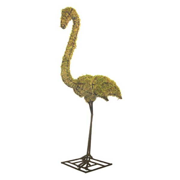 Mossed Flamingo Topiary Frame