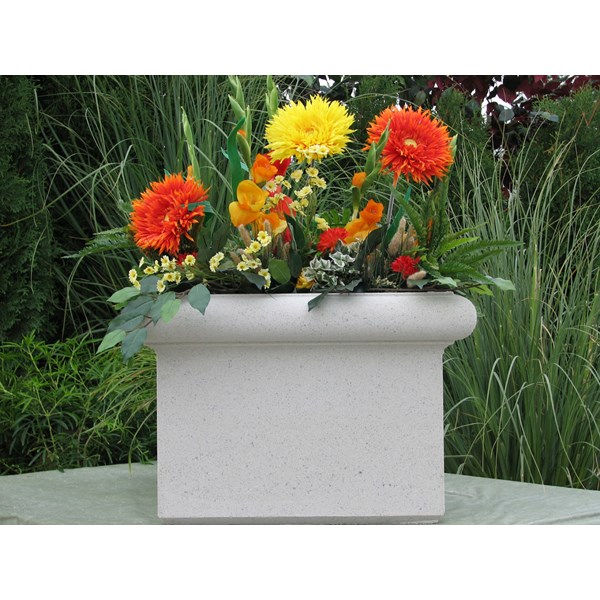 Chelsea Box - cast stone square planter - Limestone