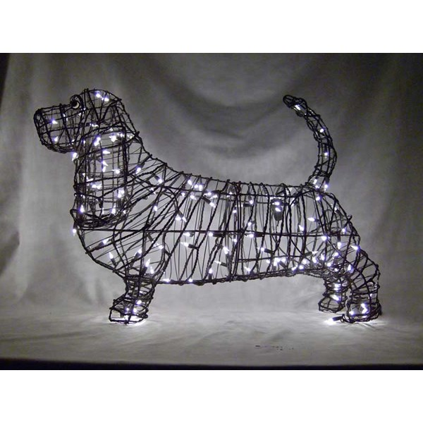 Basset Hound Topiary with Lights