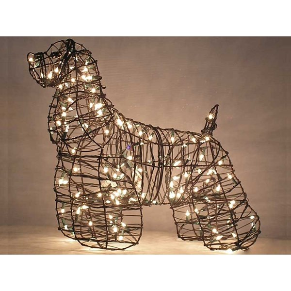 Cocker Spaniel Topiary with Lights